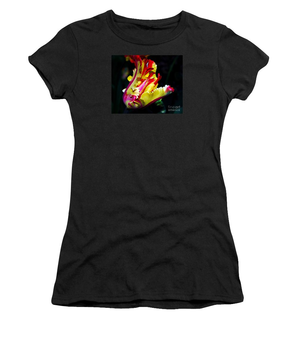 Flower Photography Women's T-Shirt featuring the photograph The Intruder by Patricia Griffin Brett