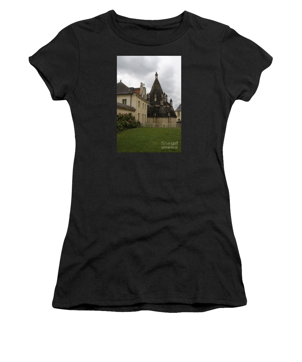 Kitchen Women's T-Shirt (Athletic Fit) featuring the photograph The Kitchenbuilding - Abbey Fontevraud by Christiane Schulze Art And Photography