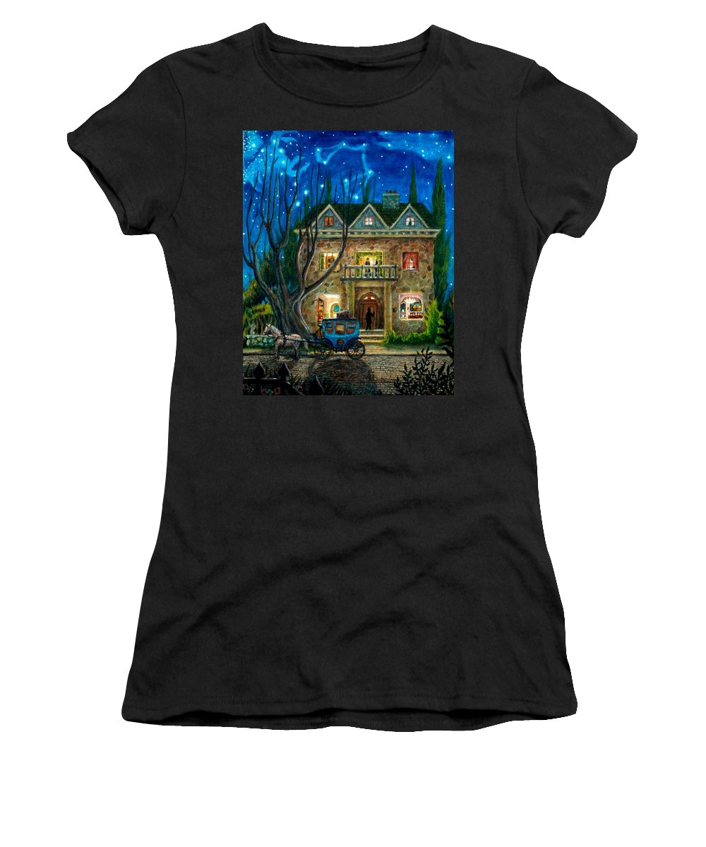 Sky Women's T-Shirt (Athletic Fit) featuring the painting The Knocker by Matt Konar