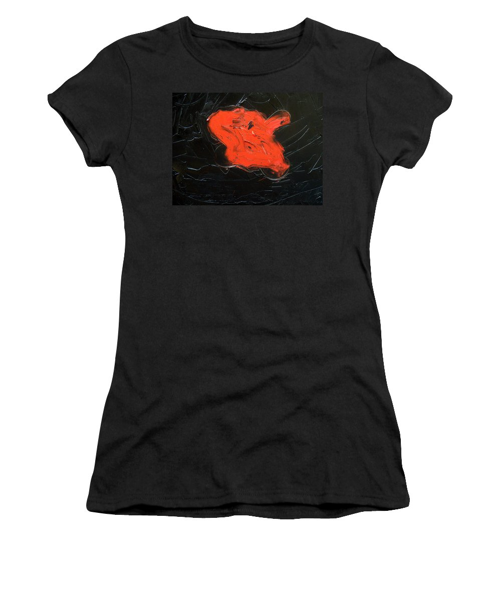 Surreal Women's T-Shirt (Athletic Fit) featuring the painting The Last Hope by Sergey Bezhinets