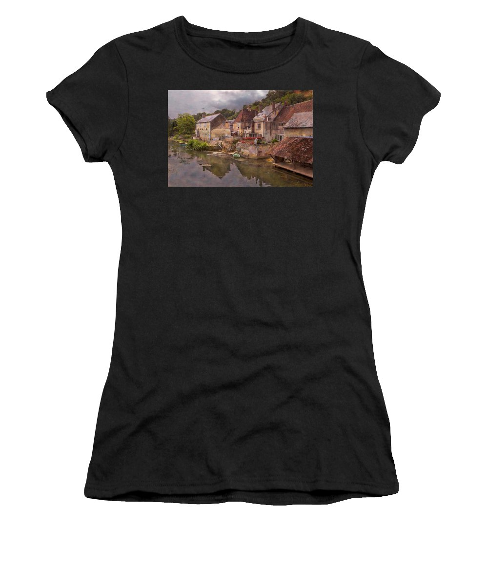 Austria Women's T-Shirt (Athletic Fit) featuring the photograph The Loir River by Debra and Dave Vanderlaan