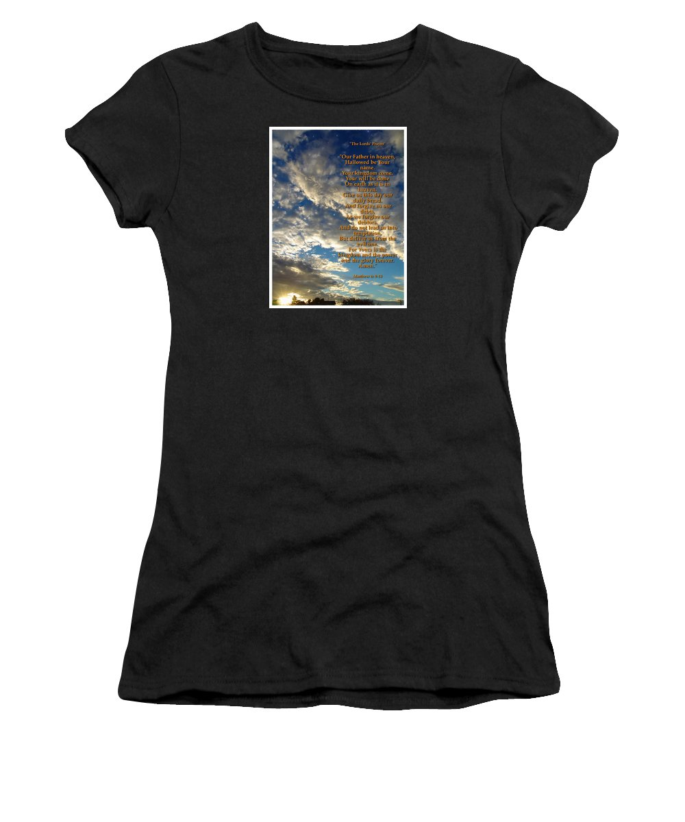 The Lords Prayer Women's T-Shirt featuring the photograph The Lords Prayer by Glenn McCarthy Art and Photography