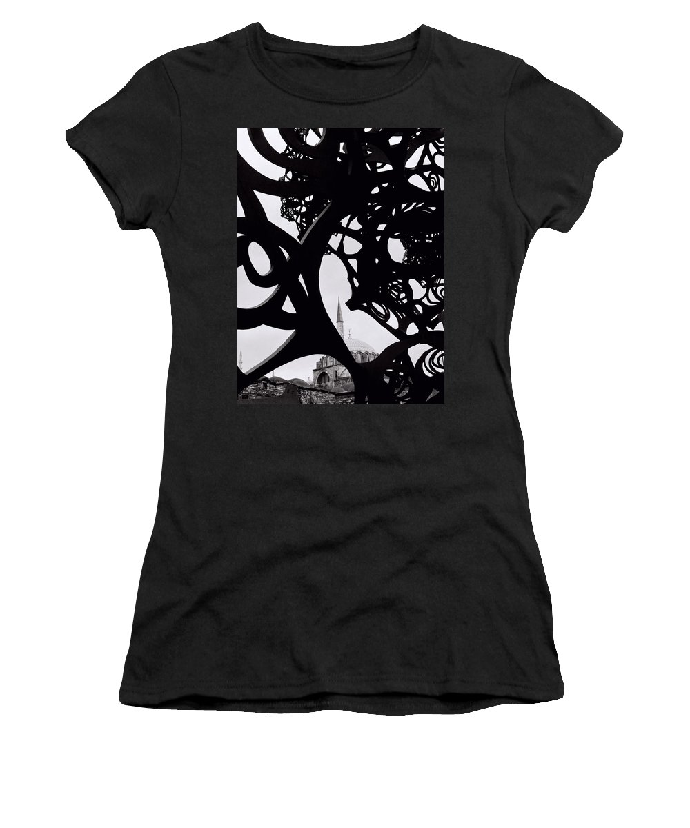 Art Women's T-Shirt (Athletic Fit) featuring the photograph The Obscured Mosque by Shaun Higson