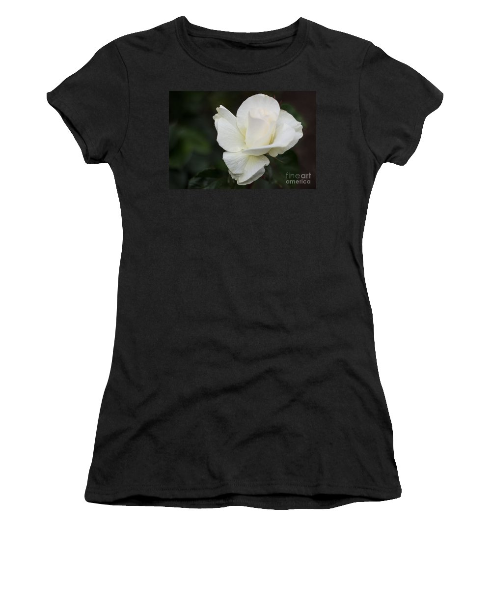 Flowers Women's T-Shirt featuring the photograph The Opening by Suzanne Luft