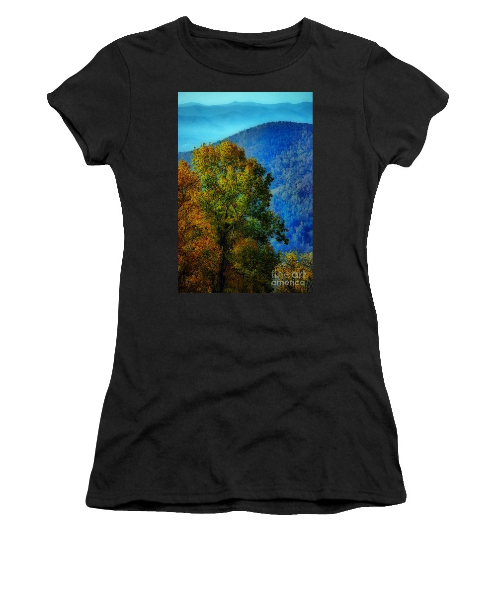 Scenic Tours Women's T-Shirt featuring the photograph The Original Frontier by Skip Willits