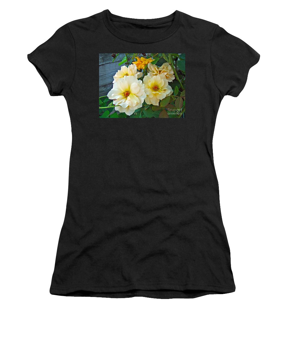 Rose Women's T-Shirt (Athletic Fit) featuring the photograph The Palest Yellow Just Like Lemon Sherbet by Mother Nature