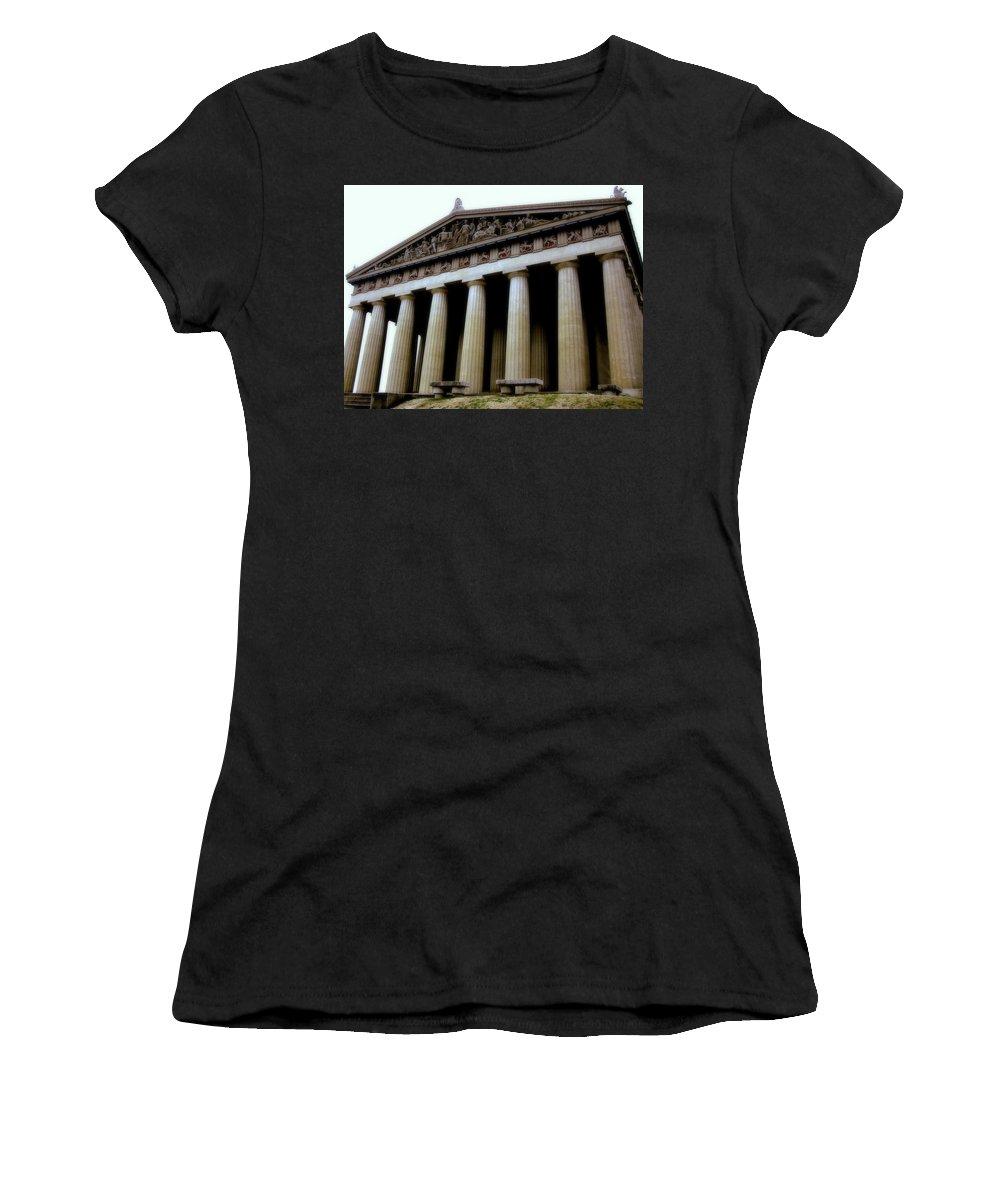 Architecture Women's T-Shirt featuring the photograph The Parthenon Nashville Tn by Jodie Marie Anne Richardson Traugott     aka jm-ART