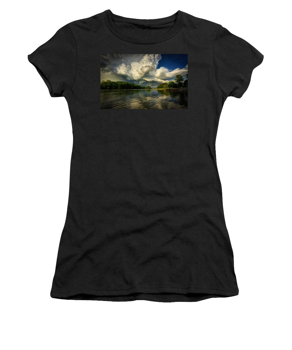 Storm Women's T-Shirt (Athletic Fit) featuring the photograph The Passing Storm by Everet Regal