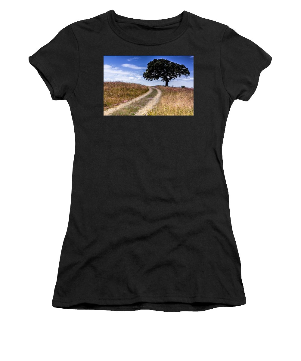 Alentejo Women's T-Shirt featuring the photograph The Right Way by Edgar Laureano