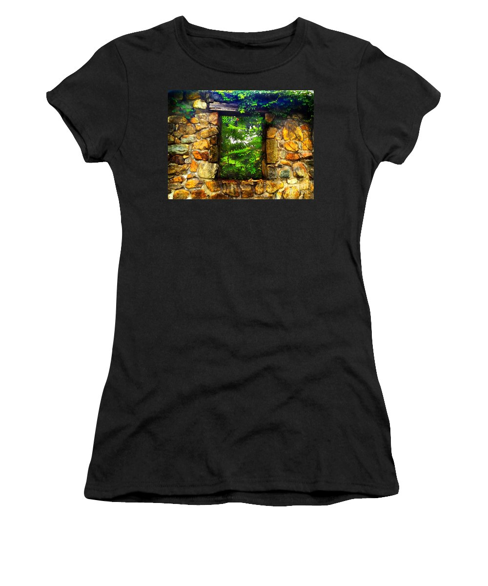 Secret Women's T-Shirt (Athletic Fit) featuring the photograph The Secret Window by Becky Lupe