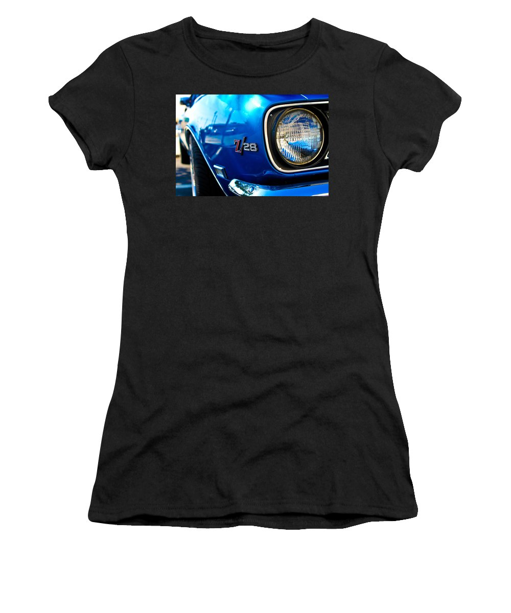 Classic Cars Women's T-Shirt (Athletic Fit) featuring the photograph The Six Eight by Digital Kulprits
