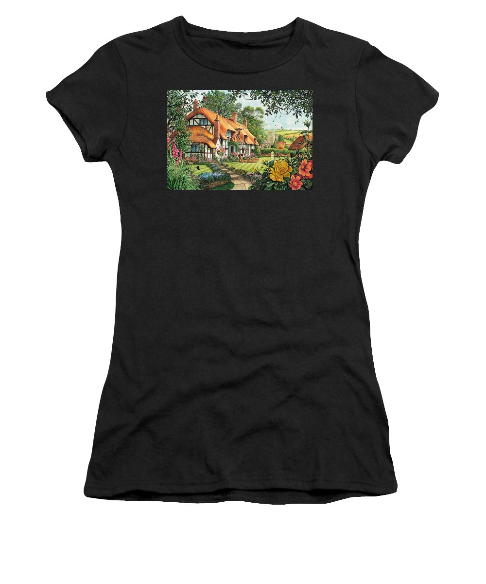 Steve Crisp Women's T-Shirt featuring the photograph The Summer Thatchers by MGL Meiklejohn Graphics Licensing