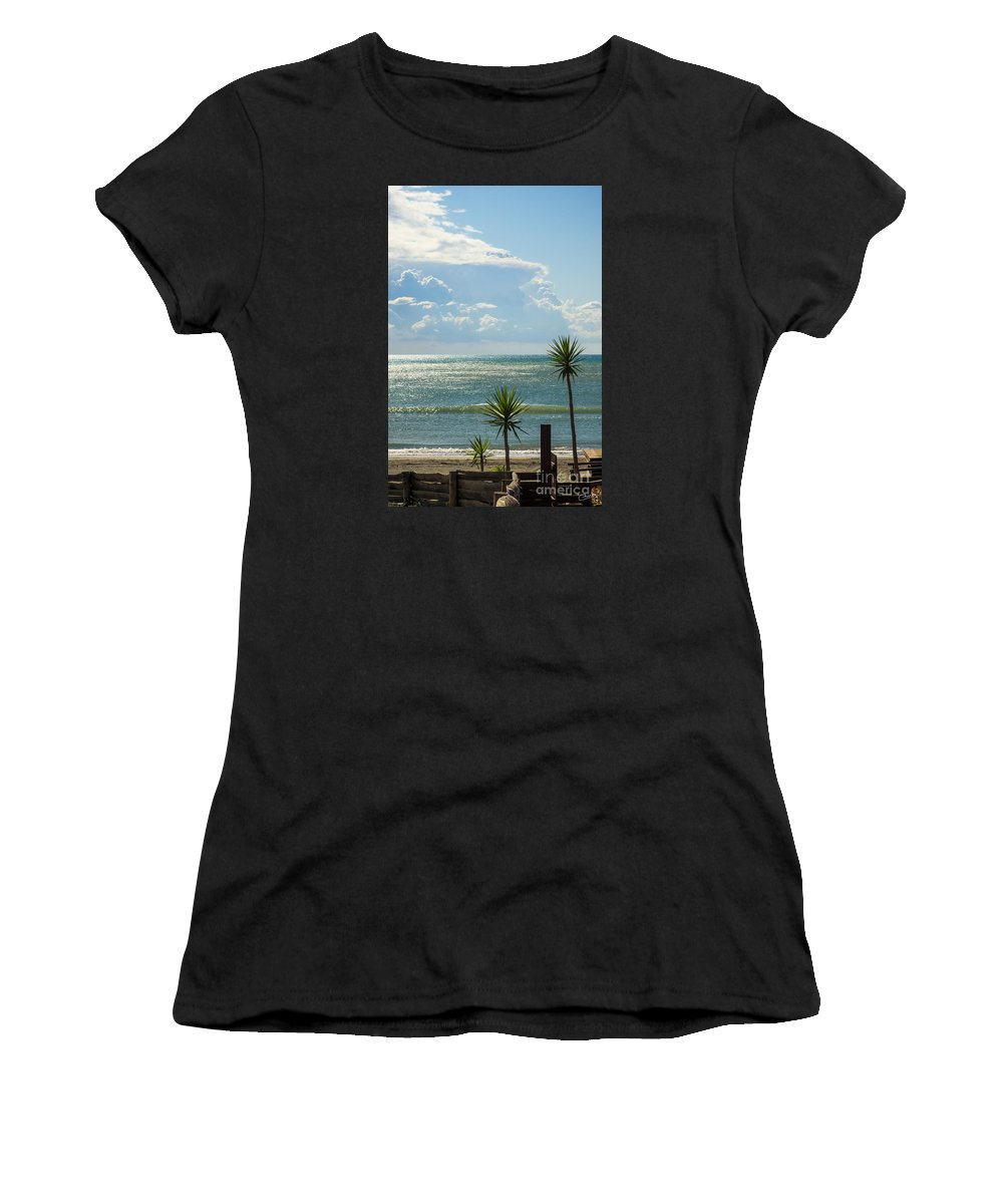 Three Palms Women's T-Shirt featuring the photograph The Three Palms by Prints of Italy