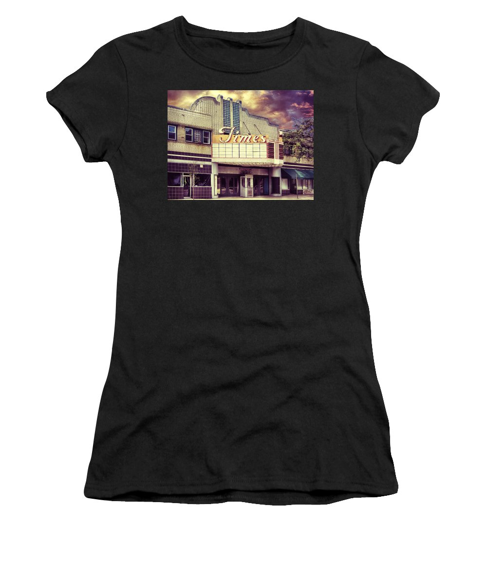 Times Women's T-Shirt (Athletic Fit) featuring the photograph The Times Theatre by Dominic Piperata