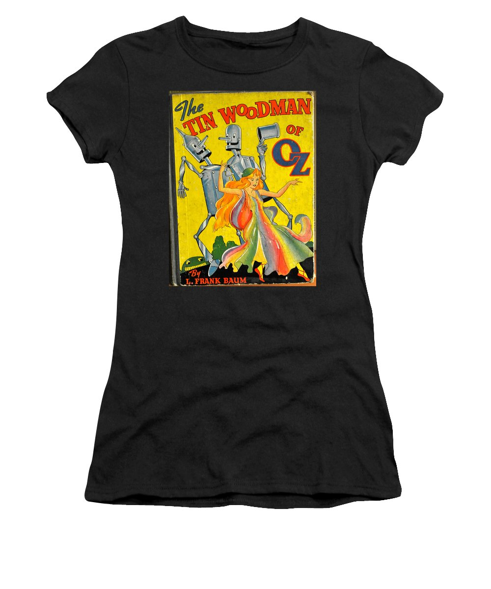 Frank Baum Women's T-Shirt (Athletic Fit) featuring the photograph The Tin Woodsman Of Oz by Jay Milo