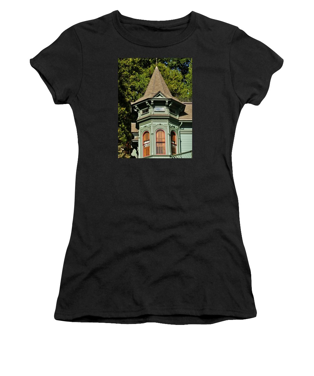 House Women's T-Shirt featuring the photograph The Tower by VLee Watson
