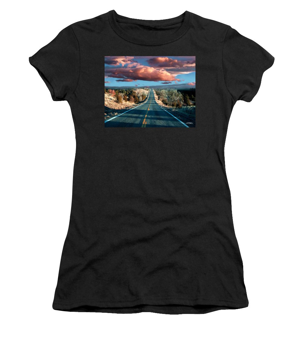 Roads Women's T-Shirt (Athletic Fit) featuring the mixed media The Trip by Bill Stephens