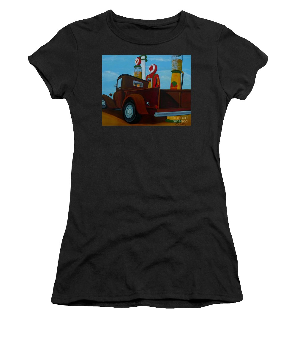 Truck Women's T-Shirt featuring the painting The Work Truck by Anthony Dunphy