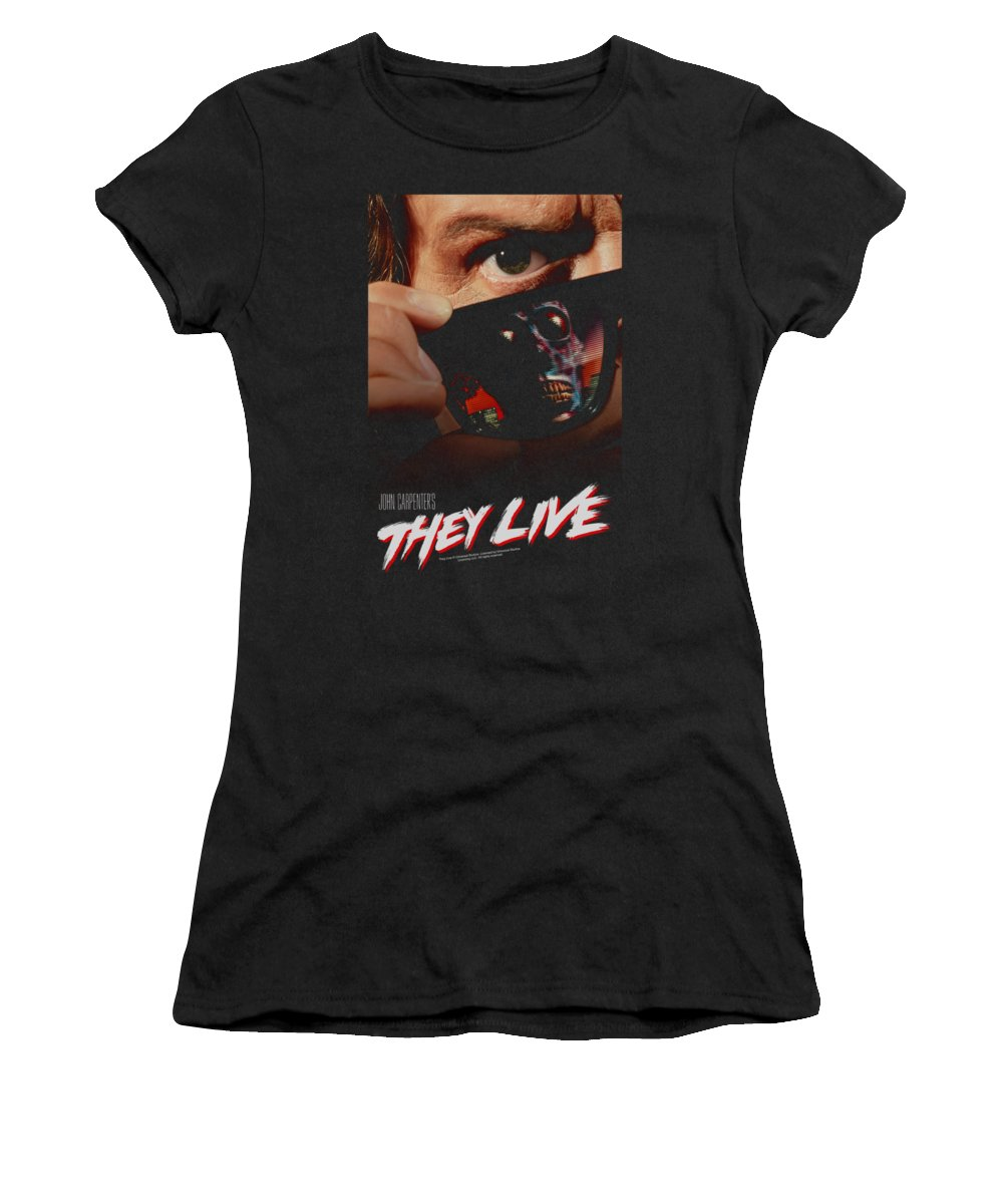 They Live Women's T-Shirt featuring the digital art They Live - Poster by Brand A