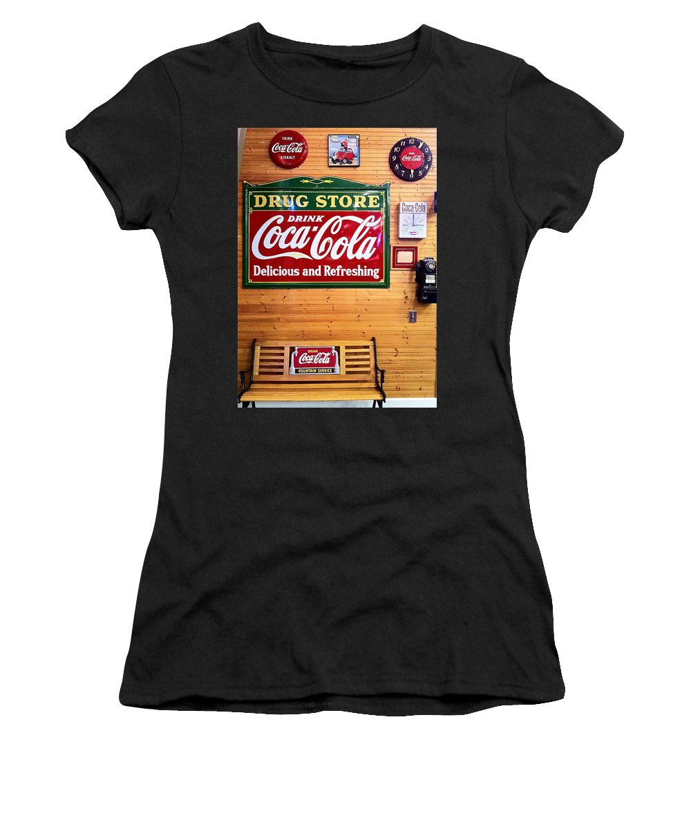 Coca Cola Women's T-Shirt featuring the photograph Things Go Better With Coke by Denise Mazzocco