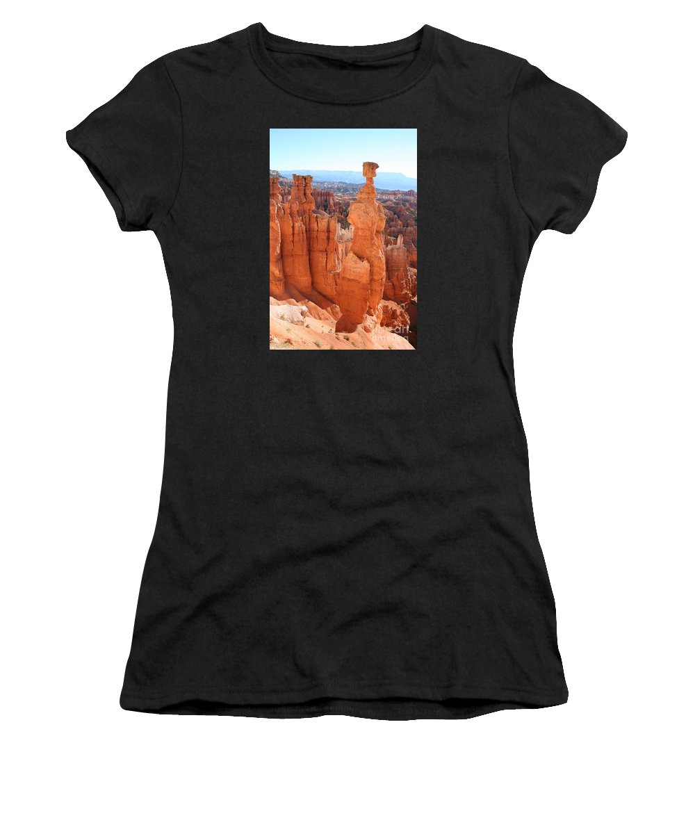 Canyon Women's T-Shirt (Athletic Fit) featuring the photograph Thors Hammer - Bryce Canyon by Christiane Schulze Art And Photography