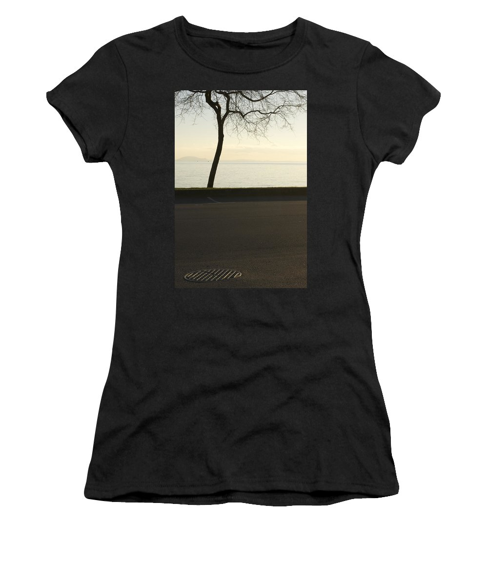 Trees Women's T-Shirt (Athletic Fit) featuring the photograph Through Harmony by The Artist Project