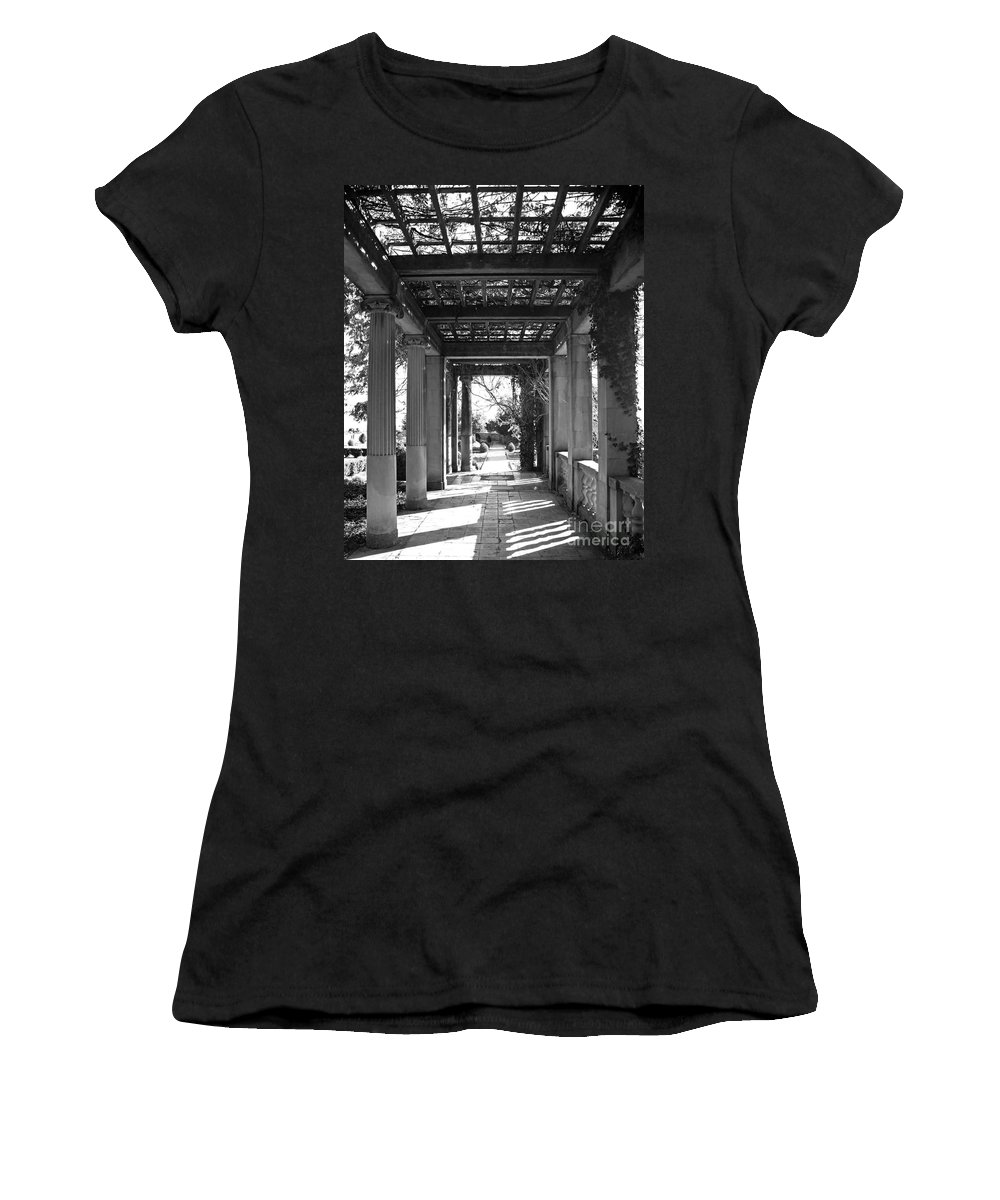 Architecture Women's T-Shirt featuring the photograph Through The Columns by Joe Geraci