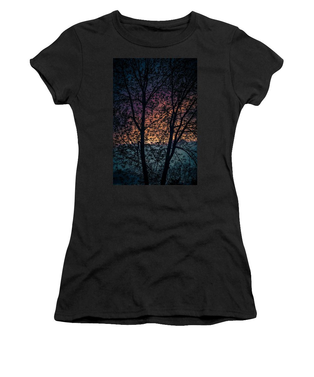 Sun Women's T-Shirt featuring the photograph Through The Tree by Amel Dizdarevic