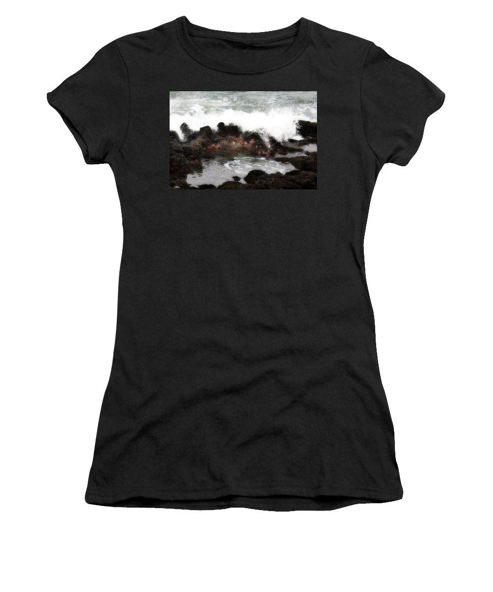 Tidalpool Women's T-Shirt (Athletic Fit) featuring the photograph Tide Pool by Hugh Smith