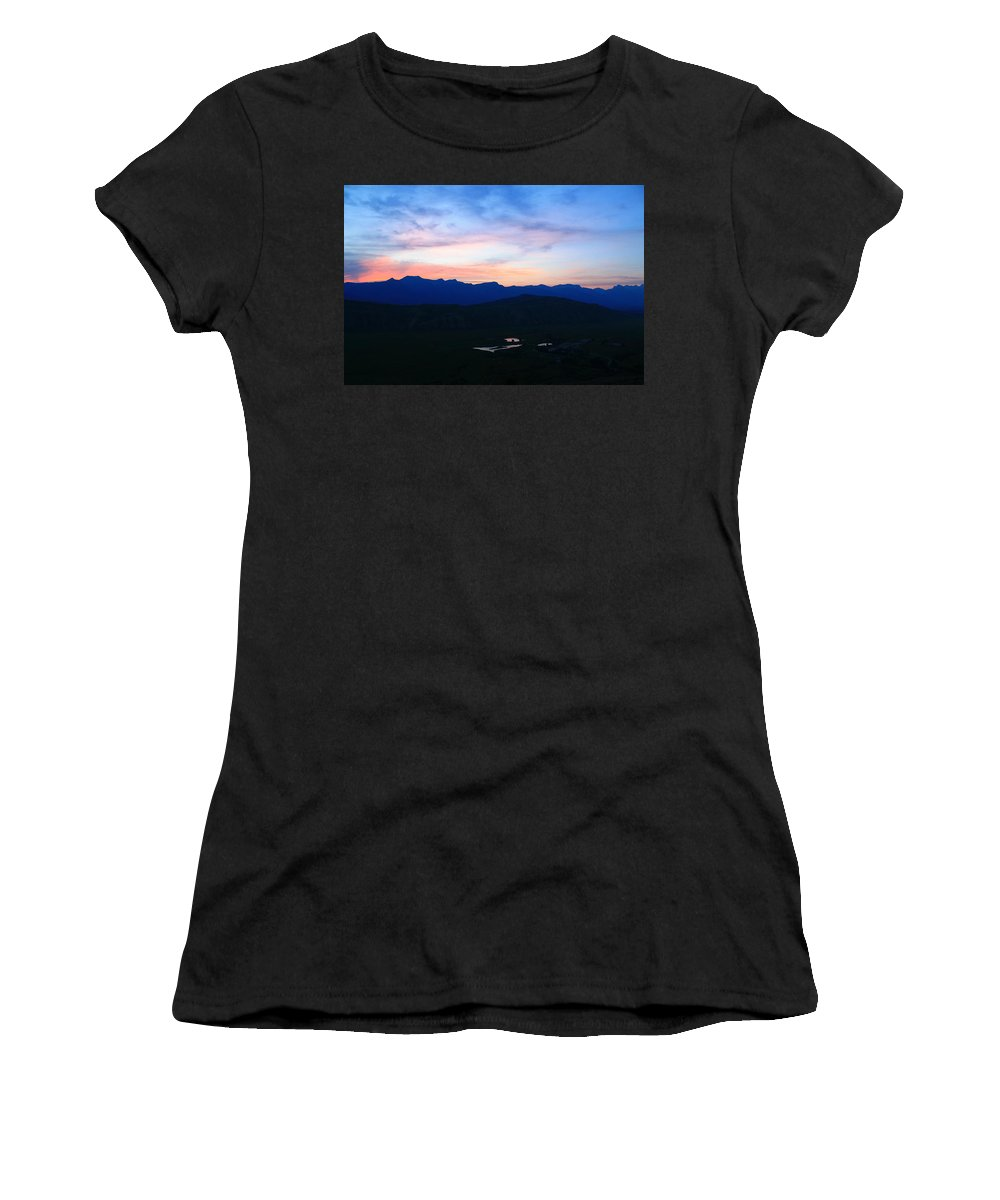 Sunset Women's T-Shirt featuring the photograph Til Morning by Catie Canetti