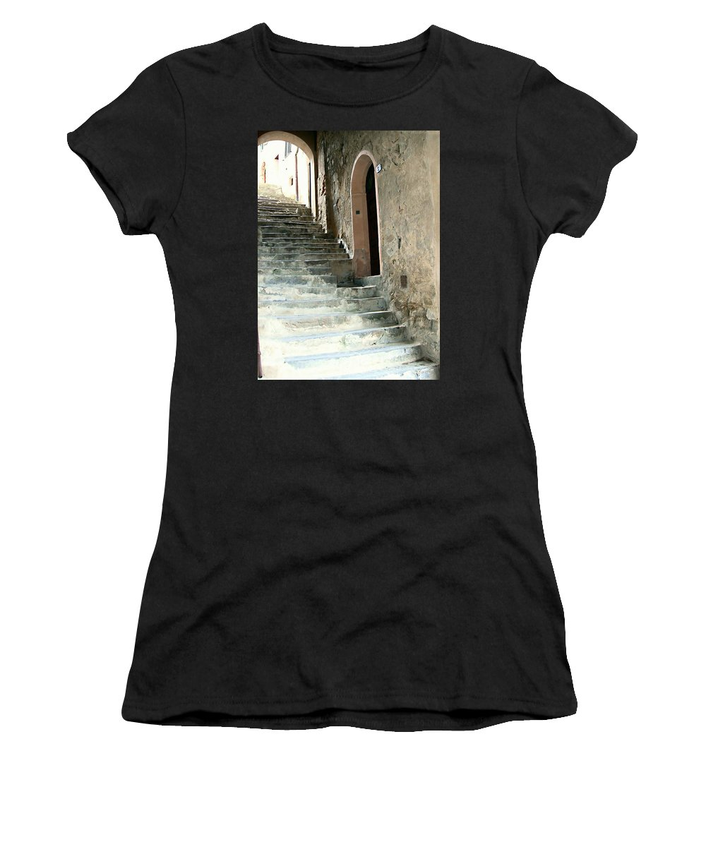Time-worn Passage Women's T-Shirt (Athletic Fit) featuring the photograph Time-worn Passage by Ellen Henneke