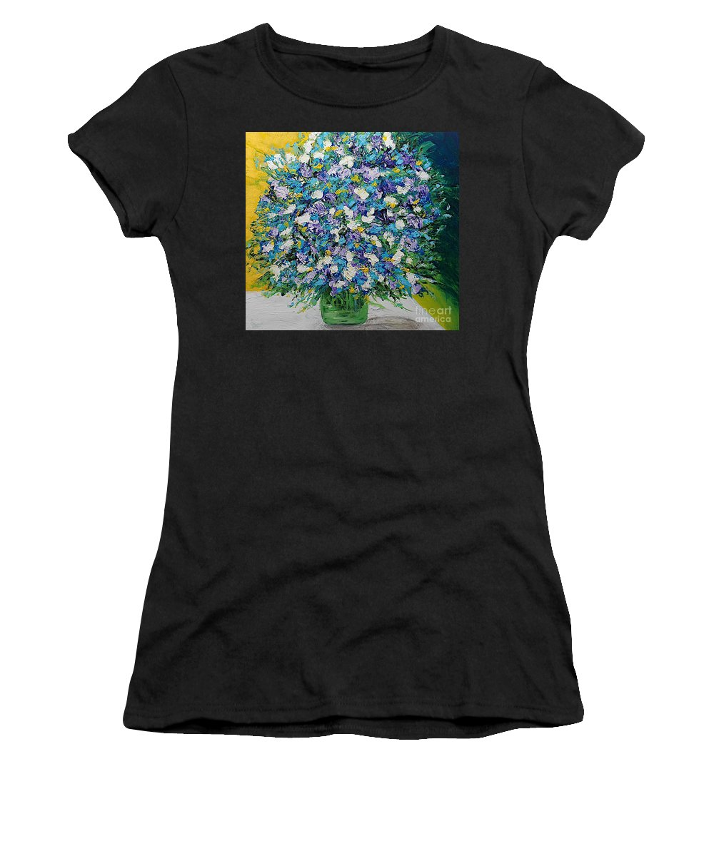Landscape Women's T-Shirt (Athletic Fit) featuring the painting To Have And Delight by Allan P Friedlander