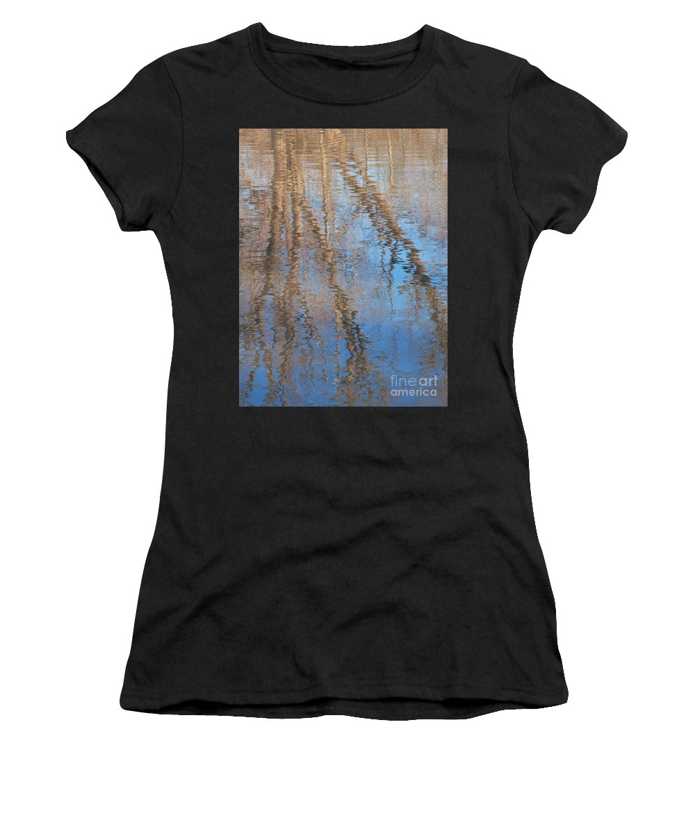 Tree Women's T-Shirt (Athletic Fit) featuring the photograph Topside Down by Ann Horn