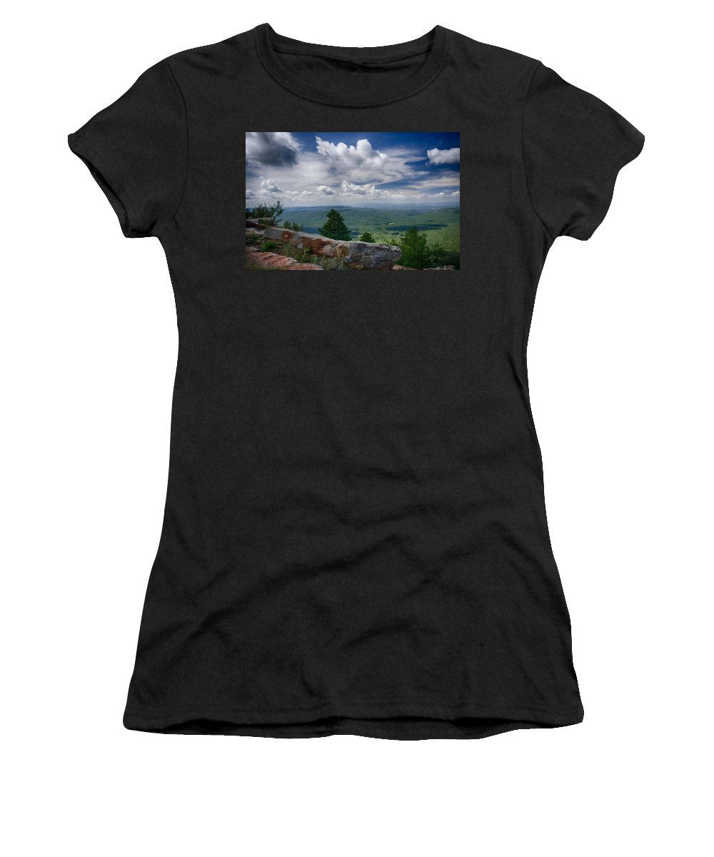 Mogollon Rim Women's T-Shirt (Athletic Fit) featuring the photograph Touch The Clouds by Saija Lehtonen