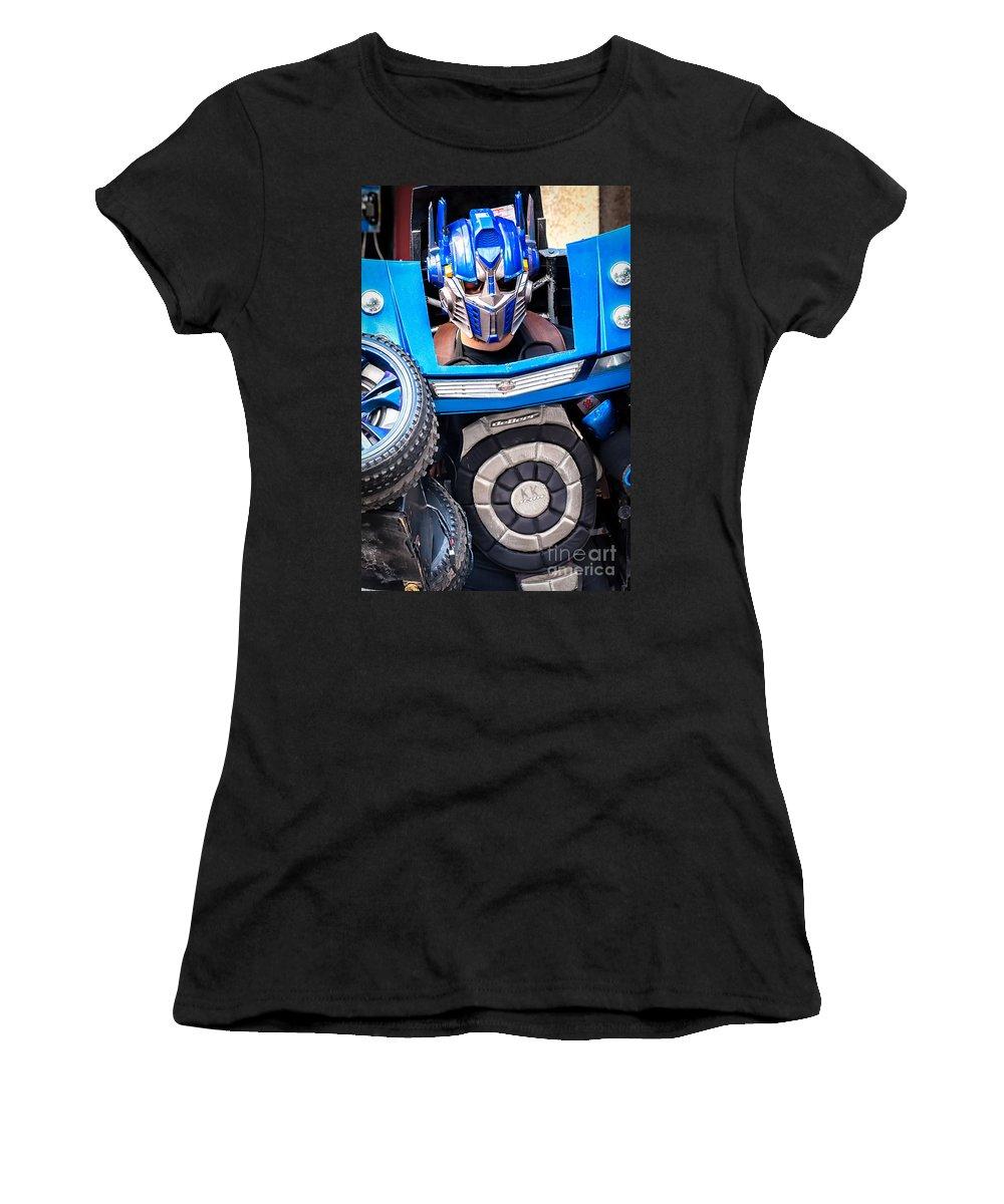 Transformer Women's T-Shirt featuring the photograph Transformer Man Mime by Kathleen K Parker