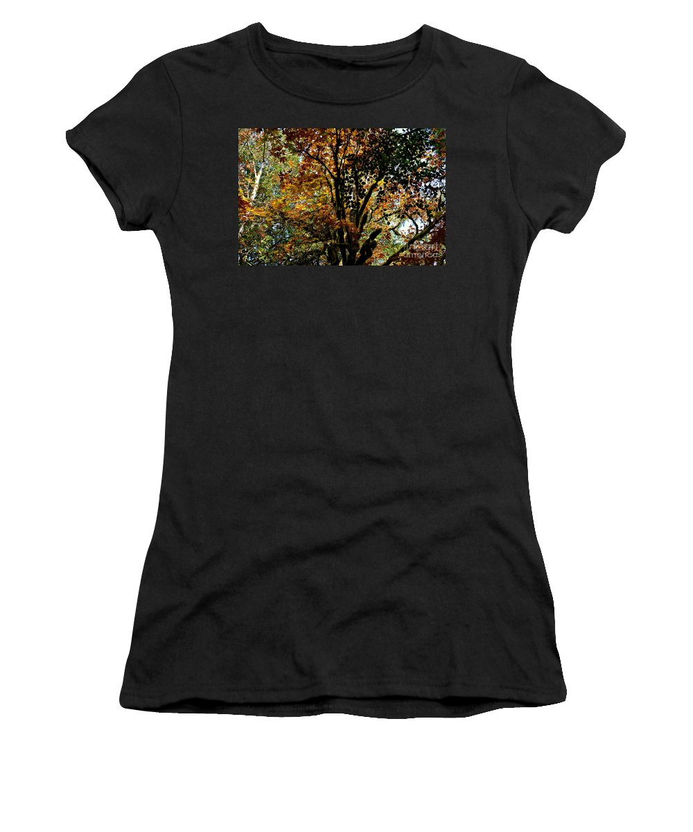 Trees Women's T-Shirt featuring the photograph Transition by Stephanie Bland