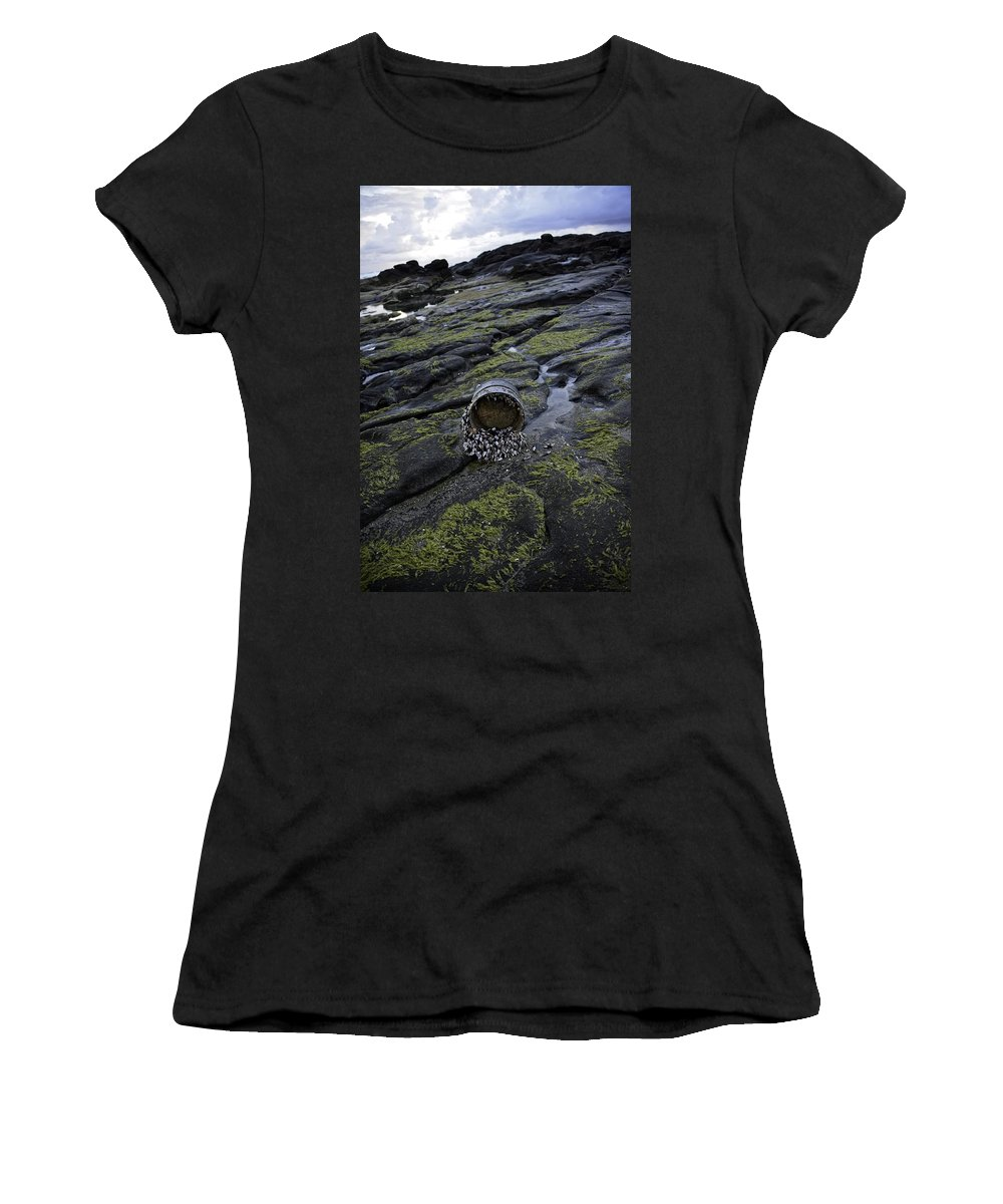 Yachats Women's T-Shirt featuring the photograph Treasures From The Ocean by Image Takers Photography LLC - Carol Haddon
