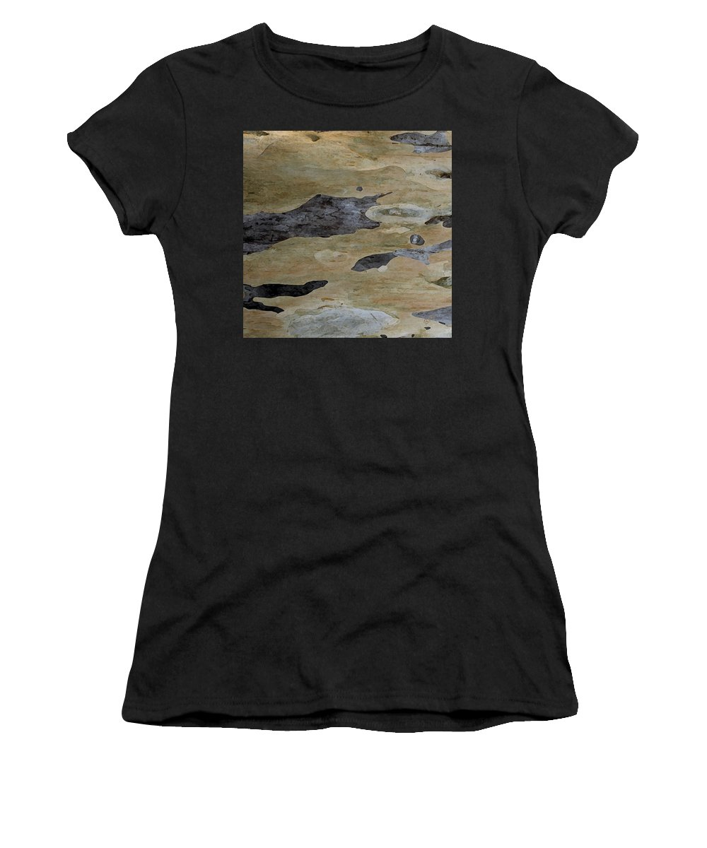 Eucalyptus Women's T-Shirt (Athletic Fit) featuring the photograph Tree Bark I by Ben and Raisa Gertsberg