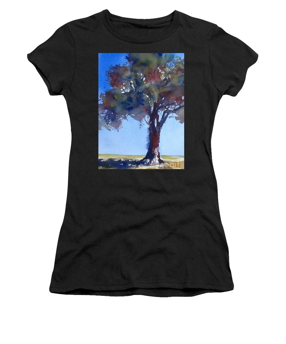 Tree Women's T-Shirt featuring the painting Tree Of Color by Gail Heffron