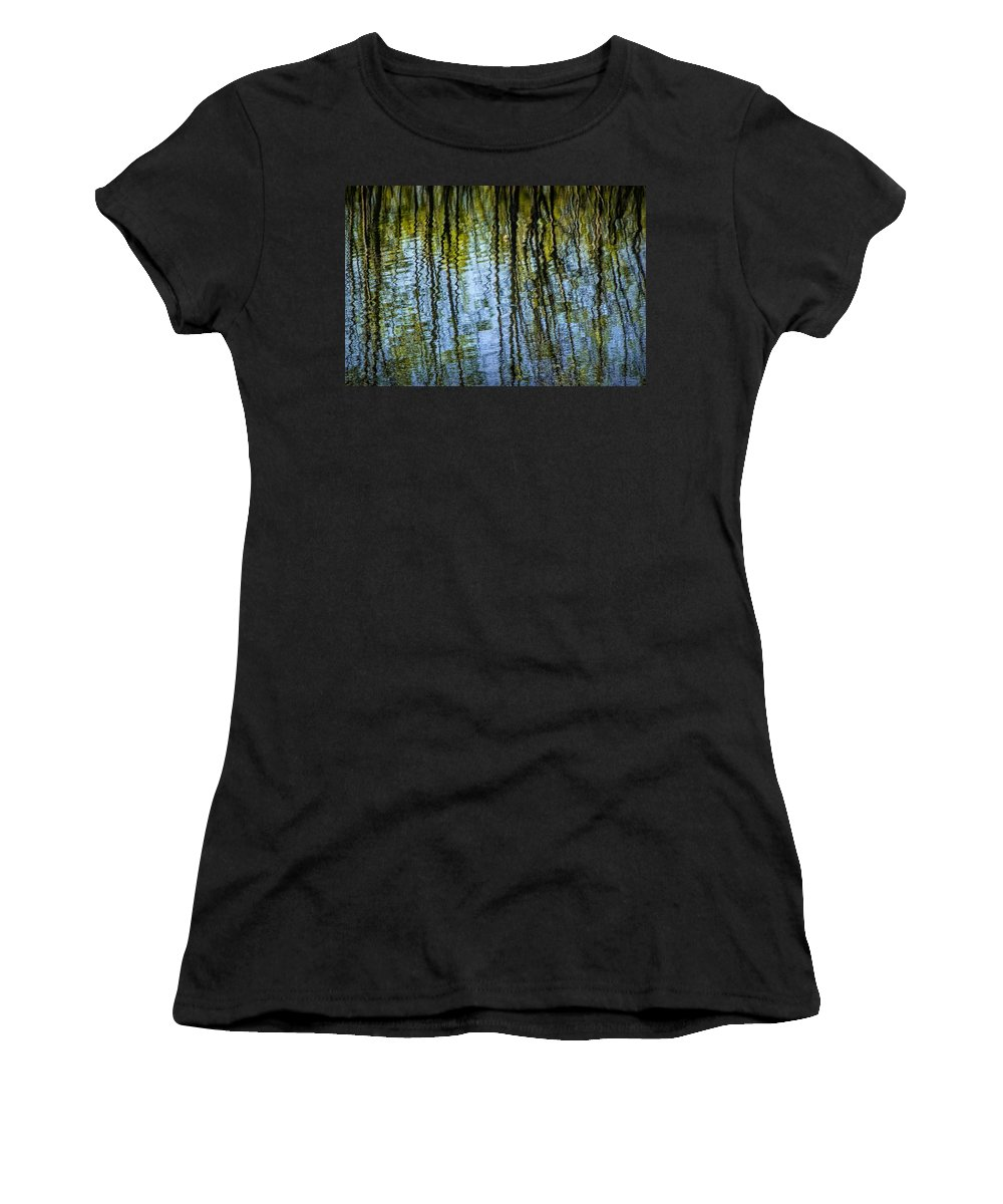Art Women's T-Shirt featuring the photograph Tree Reflections On A Pond In West Michigan by Randall Nyhof