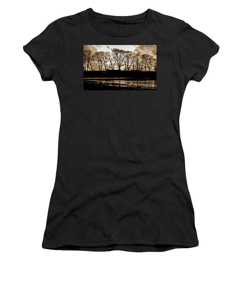 Nature Women's T-Shirt (Athletic Fit) featuring the photograph Trees Silhouettes by Mike Santis