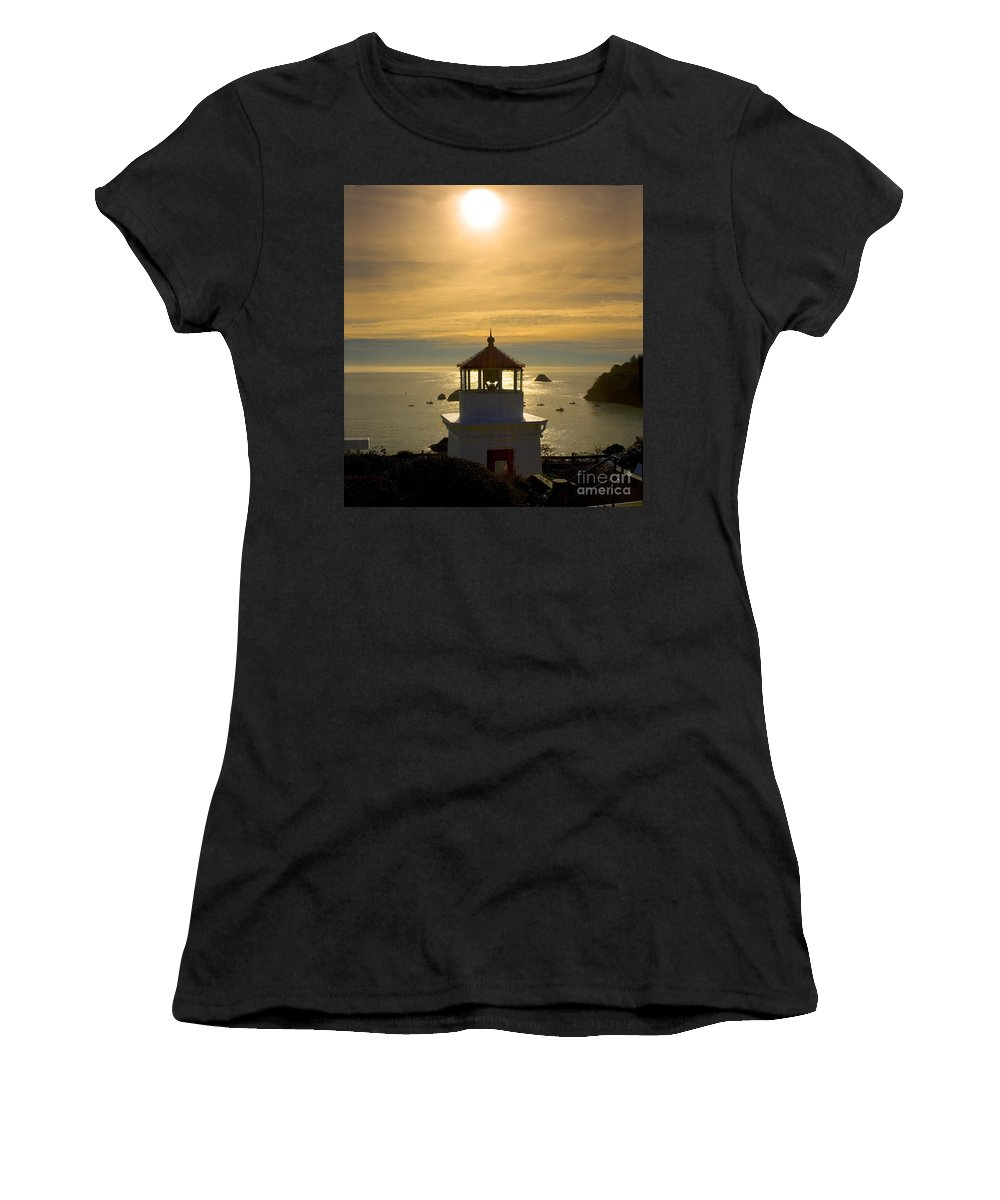 Trinidad Memorial Lighthouse Women's T-Shirt (Athletic Fit) featuring the photograph Trinidad Memorial Lighthouse by Wernher Krutein