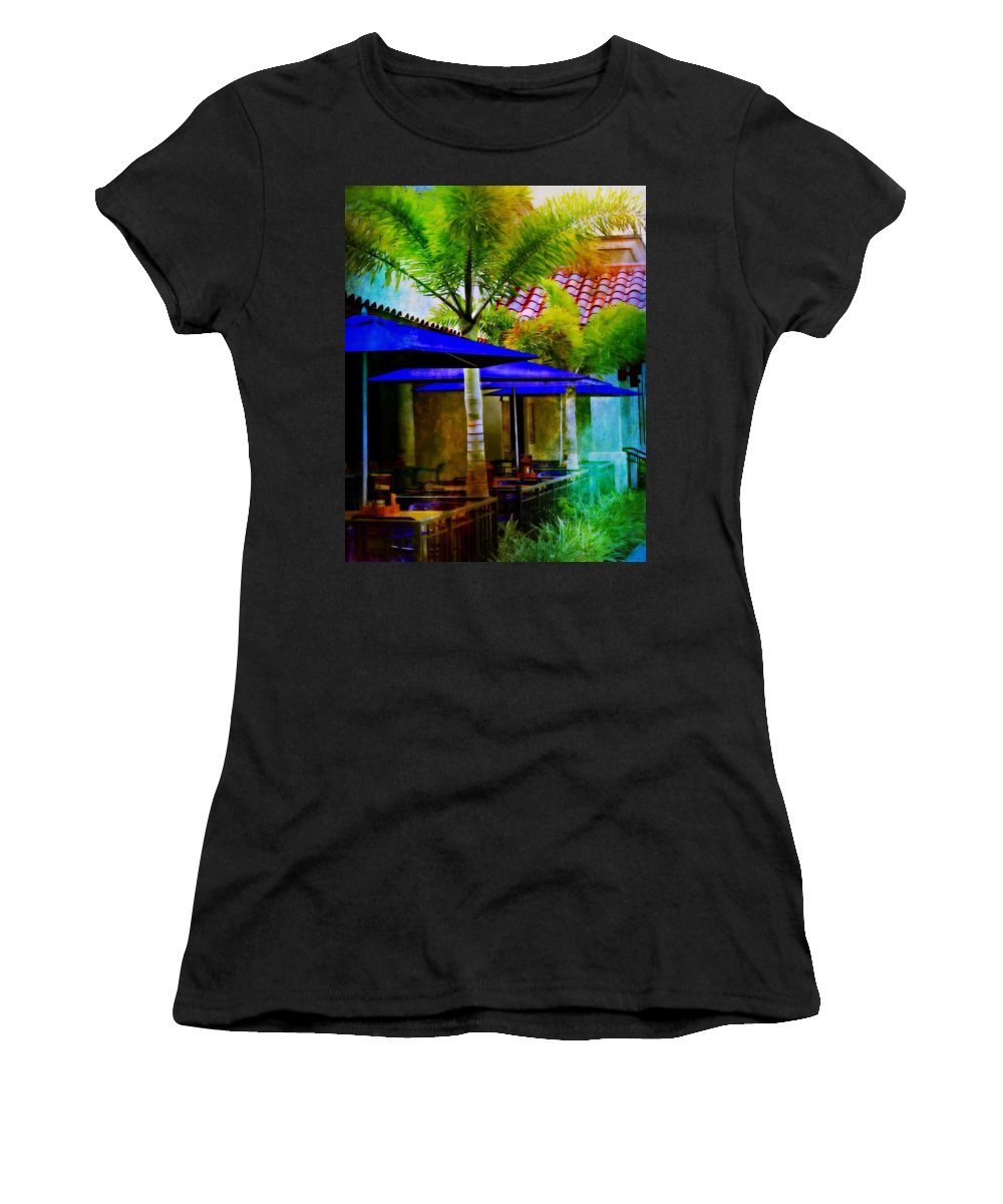 Tropical Women's T-Shirt (Athletic Fit) featuring the photograph Tropical Al Fresco by Barbara Chichester
