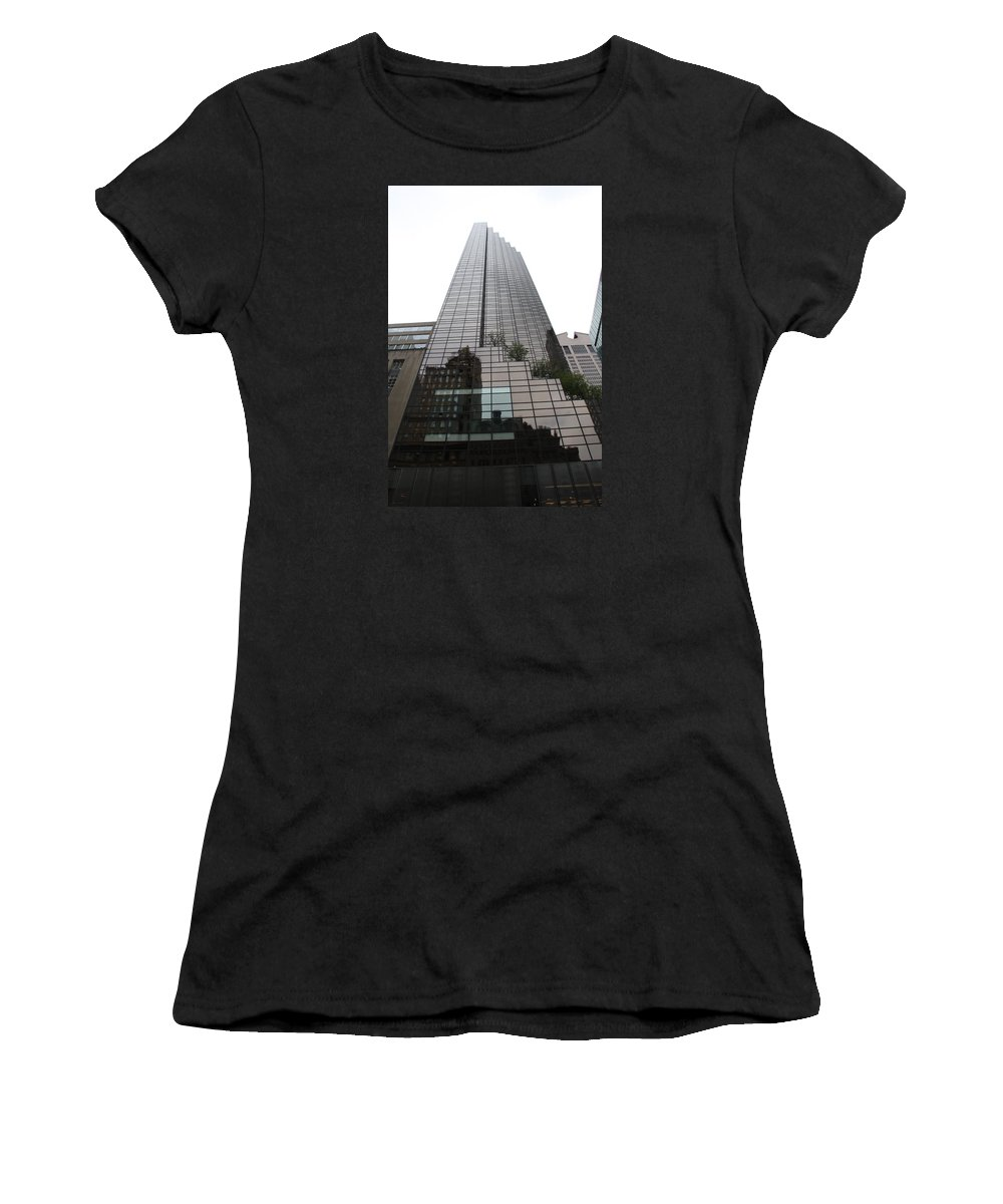 Building Women's T-Shirt (Athletic Fit) featuring the photograph Trump Tower Reflection New York by Christiane Schulze Art And Photography