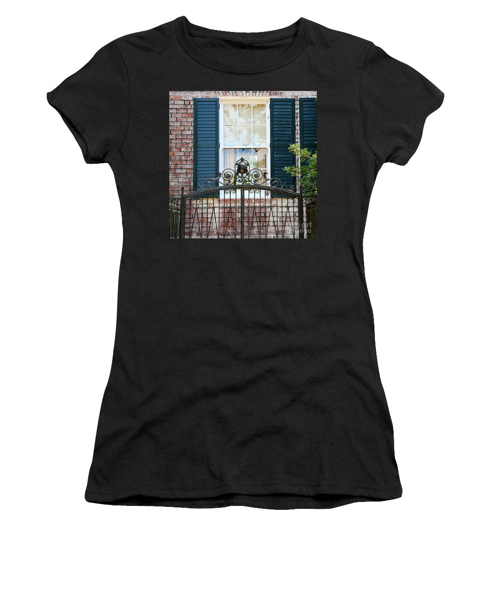 Southern Home Women's T-Shirt featuring the photograph Turtle Gate by Carol Groenen