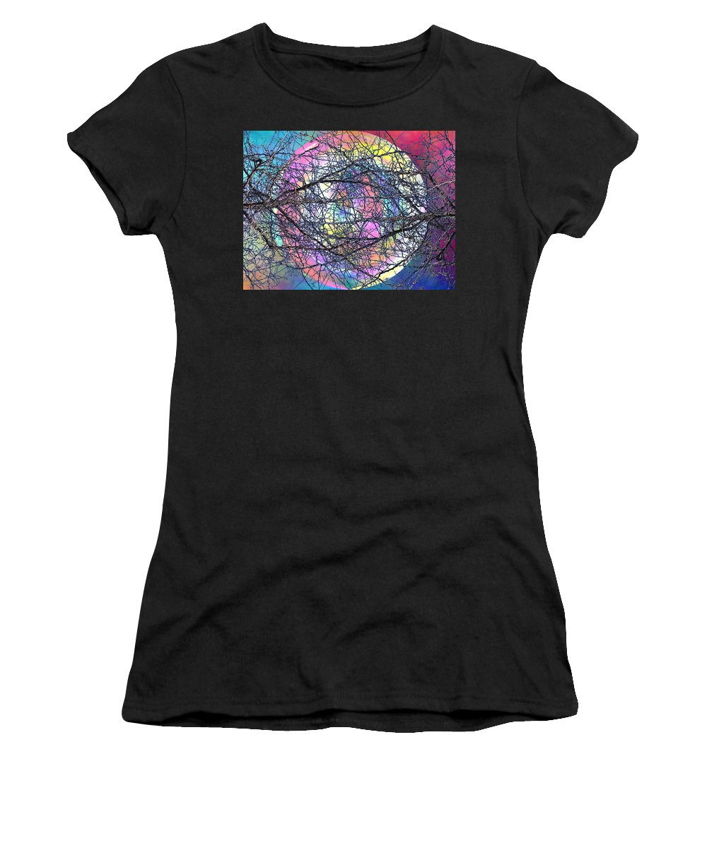 Tree Women's T-Shirt featuring the digital art Tween The Branches by Tim Allen