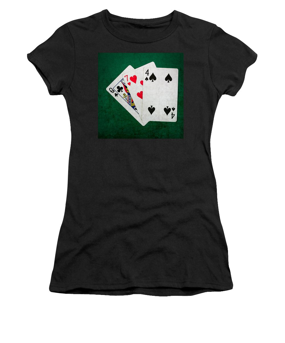 Blackjack Women's T-Shirt featuring the photograph Twenty One 7 - Square by Alexander Senin