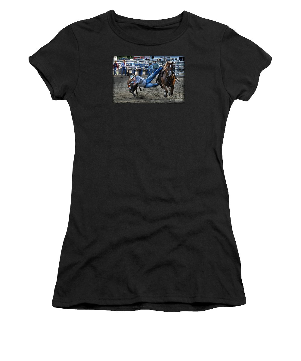 Cowboy Women's T-Shirt featuring the photograph Twisting Horns by Gary Keesler