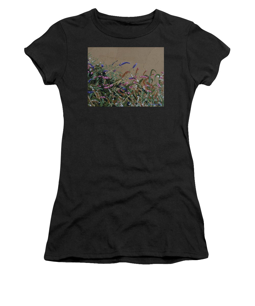 Flowering Butterfly Bush Women's T-Shirt (Athletic Fit) featuring the painting Tyler by Leah Tomaino