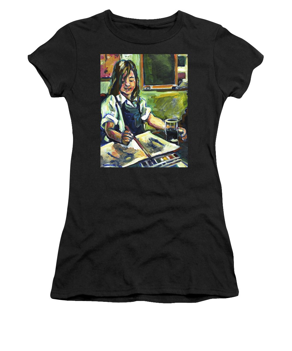 Art Women's T-Shirt (Athletic Fit) featuring the painting U. A. by Faye Cummings